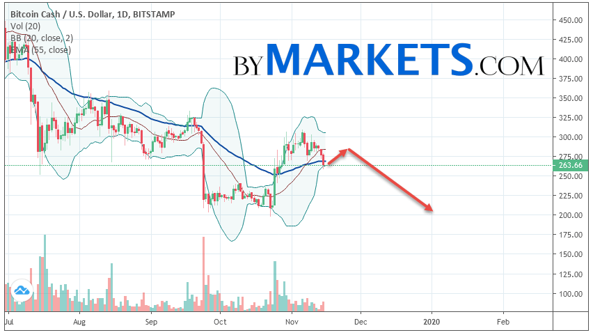Bitcoin Cash (BCHUSD) forecast on November 18 — 24, 2019