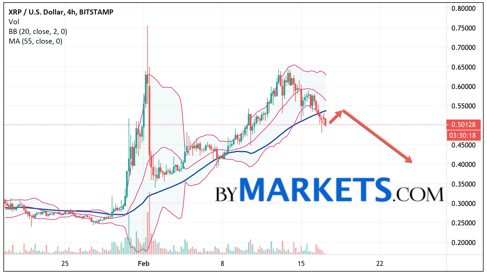 Ripple (XRP/USD) forecast and analysis on February 18, 2021